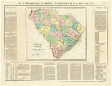 South Carolina Map By Jean Alexandre Buchon