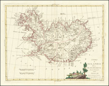 Iceland Map By Antonio Zatta