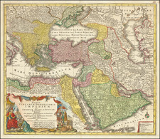 Turkey, Middle East and Turkey & Asia Minor Map By Tobias Conrad Lotter