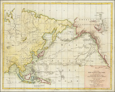 Alaska, Pacific and Russia in Asia Map By Antonio Zatta