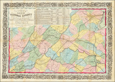 Virginia Map By Ritchie & Dunnavant / Willliam D. Cooke