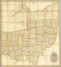 Ohio Map By John Melish / Benjamin Hough / Alexander Bourne