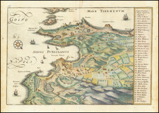 Southern Italy and Other Italian Cities Map By Matthaeus Merian