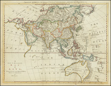 A New & Accurate Map of Asia, Drawn from the most approved Modern Maps & Charts . . . 1779 (with Australia -- names Sea of Korea) By Thomas Bowen