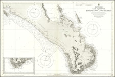 Baja California Map By British Admiralty