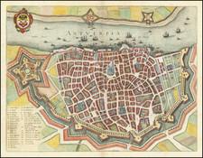 Belgium Map By Matthaus Merian