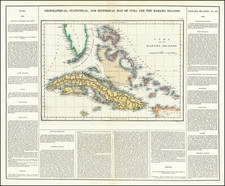 Cuba and Bahamas Map By Henry Charles Carey  &  Isaac Lea