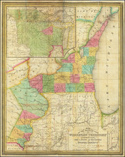 Minnesota, Wisconsin and Iowa Map By J.H. Young / Hinman & Dutton