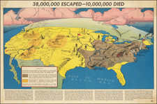 United States, Pictorial Maps and World War II Map By Russian War Relief Inc.