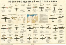Germany, Russia and World War II Map By F.P. Konov