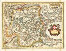 Switzerland and France Map By Matthaus Merian
