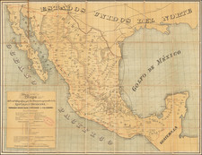 Mexico Map By Britton & Rey / Felipe A. Labadie