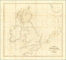 British Isles Map By John & Alexander Walker / John William Lubbock