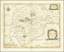 British Counties Map By Robert Morden