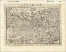 Western Hemisphere, South America, Australia and America Map By Giovanni Antonio Magini