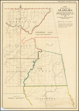 Alabama Map By United States GPO