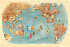 Pacific Ocean, North America, South America, Pacific and Pictorial Maps Map By Miguel Covarrubias