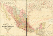 Texas, Southwest and Mexico Map By Rand McNally & Company