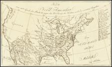 United States Map By Eberhard August Wilhelm von Zimmermann