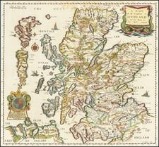 Scotland Map By Richard Blome