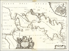 Greece Map By Vincenzo Maria Coronelli