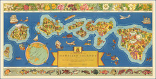 Hawaii, Hawaii and Pictorial Maps Map By Hawaiian Pineapple Company / Parker Edwards