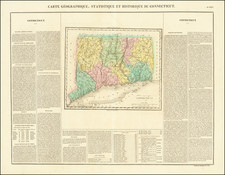 Connecticut Map By Jean Alexandre Buchon