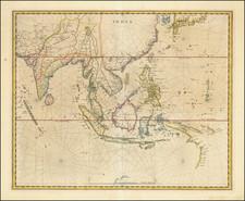 Southeast Asia Map By Willem Janszoon Blaeu / Hessel Gerritsz