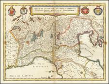 Nova et Accurata Ducatus Venetiani, Mediolani, Genuae, Mantuae que et Finitimorum Principatuum Delineatio By Matthaus Merian