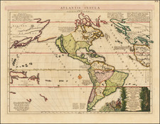 Atlantic Ocean, South America, Australia & Oceania, Pacific, Oceania and America Map By Pierre Mortier
