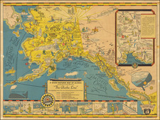 Alaska and Pictorial Maps Map By Edward Camy