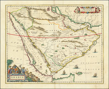 Middle East and Arabian Peninsula Map By Johannes Blaeu