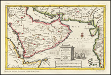 Middle East and Arabian Peninsula Map By Pieter van der Aa