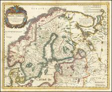 Scandinavia Map By Matthaus Merian