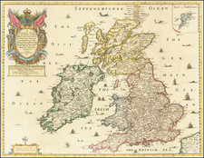A Generall Mapp of the Isles of Great Brittaine . . . 1669 By Richard Blome