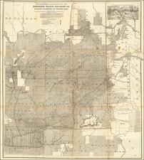 Idaho and Washington Map By Northern Pacific Rail Road