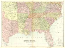 South, Southeast, Texas, Plains and Oklahoma & Indian Territory Map By Adam & Charles Black