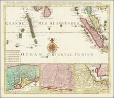 India, Singapore, Indonesia, Malaysia and Sri Lanka Map By Jan Barend Elwe