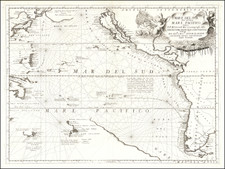 Australia & Oceania, Pacific, Australia, Oceania, New Zealand, Hawaii and California Map By Vincenzo Maria Coronelli