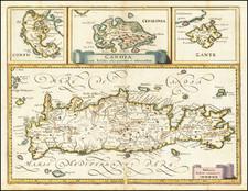 Greece Map By Matthaus Merian