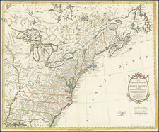 Map of the United States in North America:  with the British, French and Spanish Dominions adjoining, according to the Treaty of 1783. By Thomas Kitchin