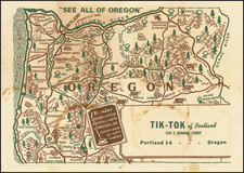 Oregon Map By Anonymous
