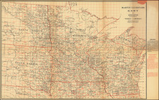 Minnesota, Wisconsin, North Dakota and South Dakota Map By Martin Ulvestad