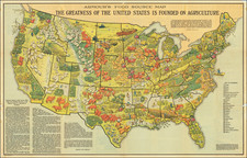 United States and Pictorial Maps Map By Armour & Co.