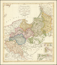 Germany and Poland Map By Adolf Stieler