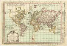 World Map By Etienne Andre Philippe de Pretot