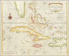 Florida, Caribbean, Cuba and Bahamas Map By William Mount  &  Thomas Page