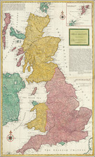 British Isles and England Map By Herman Moll