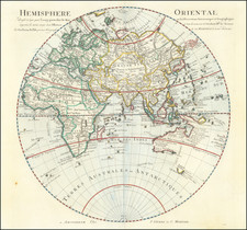 Eastern Hemisphere Map By Johannes Covens  &  Pieter Mortier