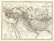 Europe, Turkey, Asia, Central Asia & Caucasus, Middle East and Turkey & Asia Minor Map By Alexandre Emile Lapie
